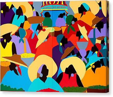 Petion-ville Market Diptych Canvas Print by Synthia SAINT JAMES