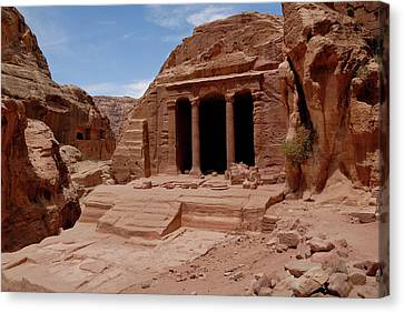 Petra's Garden Temple Canvas Print by Dan Wiklund