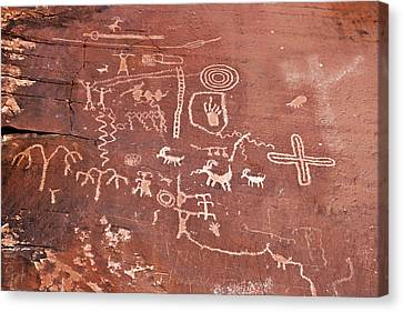 Petroglyph Canyon - Valley Of Fire Canvas Print