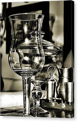 Pewter And Glass Canvas Print by Bob Wall