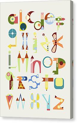 Phantasy Alphabet Canvas Print