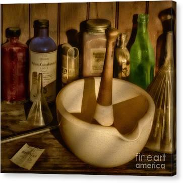 Pharmacist Tools Canvas Print by Susan Candelario