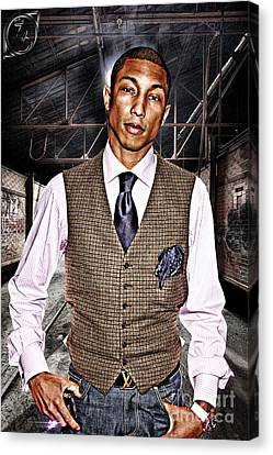Pharrell Canvas Print by The DigArtisT