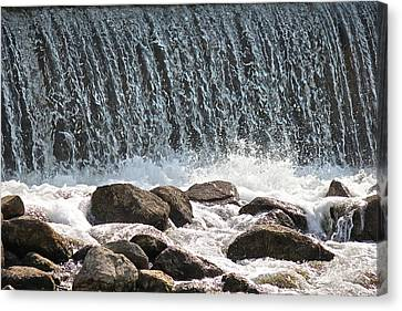 Canvas Print featuring the photograph Phelps Mill Dam by Penny Meyers