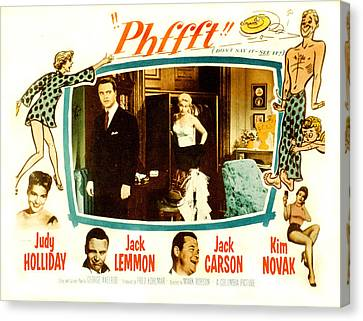 Phfft, Bottom From Left Judy Holliday Canvas Print by Everett