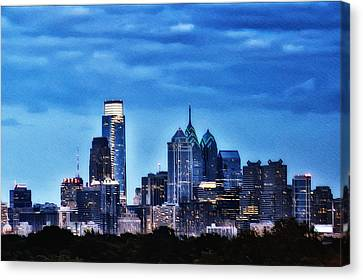 Philadelphia At Night Canvas Print by Bill Cannon