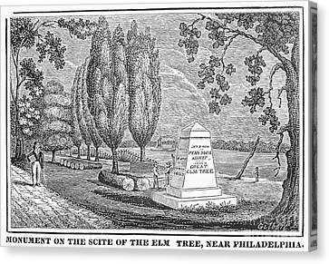 Philadelphia: Elm Monument Canvas Print by Granger