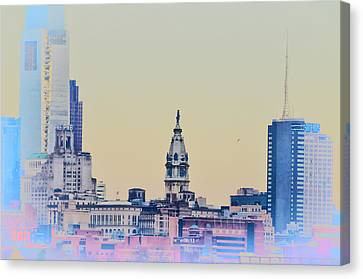 Philadelphia From South Camden Canvas Print by Bill Cannon