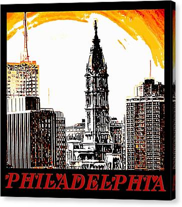 Philadelphia Poster Canvas Print by Bill Cannon