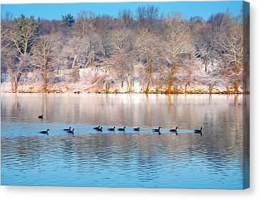 Philadelphia Winter Scene Canvas Print by Bill Cannon