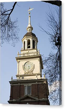 Philadelphias Independence Hall Canvas Print by Tim Laman