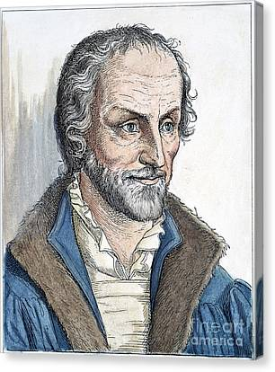 Philipp Melanchthon (1497-1560). German Scholar And Religious Reformer: Line Engraving, German, 19th Century Canvas Print by Granger