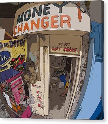 Philippines 3954 Money Changer Canvas Print by Rolf Bertram