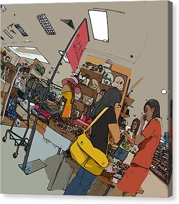 Philippines 4385 Department Store Sales Lady Canvas Print by Rolf Bertram
