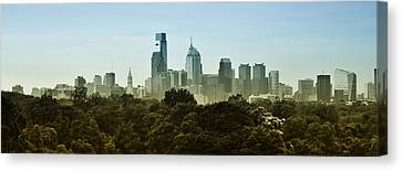 Philly Panorama Canvas Print by Bill Cannon