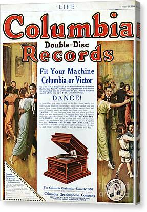 Phonograph Ad, 1914 Canvas Print by Granger