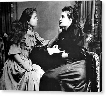 Photo Illustrates How Helen Keller Left Canvas Print by Everett