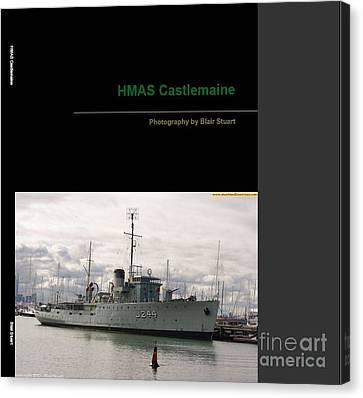 Canvas Print featuring the mixed media Photobook On Hmas Castlemaine by Blair Stuart
