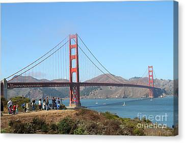 Photographing The San Francisco Golden Gate Bridge . 7d7787 Canvas Print by Wingsdomain Art and Photography