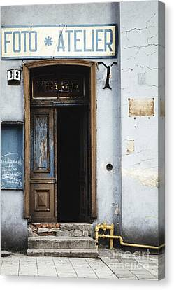 Canvas Print featuring the photograph Photography Studio Entrance by Agnieszka Kubica