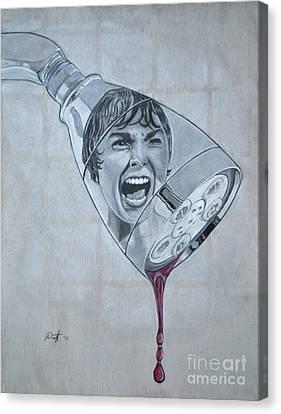 Phsycho Canvas Print by Joe Dragt