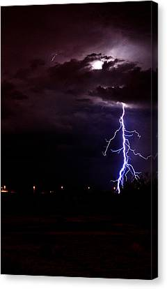 Phx Night Lightning 8 Canvas Print by Kenny Jalet