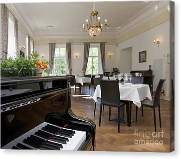 Piano In A Upscale Dining Room Canvas Print by Jaak Nilson