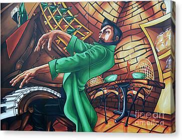 Piano Man 4 Canvas Print by Bob Christopher