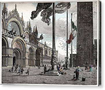 Piazza San Marco In Venice Canvas Print