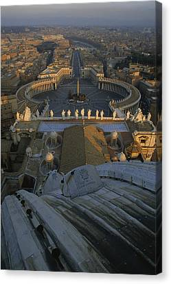 Piazza San Pietro As Seen From The Dome Canvas Print by James L. Stanfield