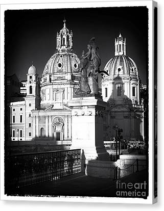 Piazza Shadows Canvas Print by John Rizzuto