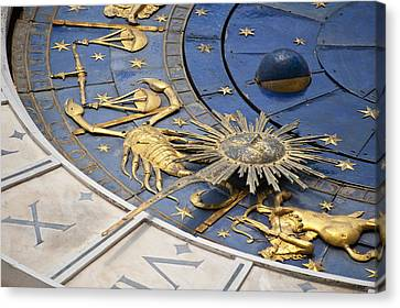 Piazza (square) San Marco, Clock Tower Detail Canvas Print by Maremagnum