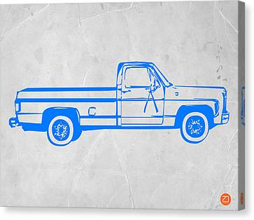 Pick Up Truck Canvas Print by Naxart Studio