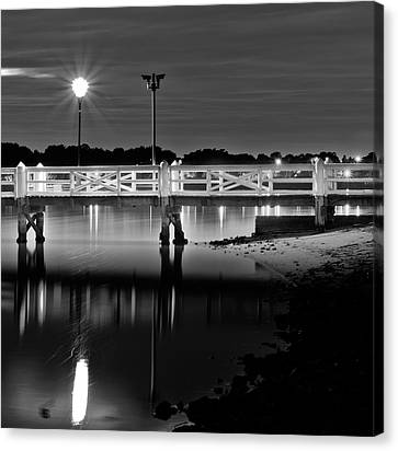 Picketted Jetty Canvas Print by Mark Lucey