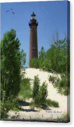 Canvas Print featuring the photograph Picnic By The Lighthouse by Joan Bertucci
