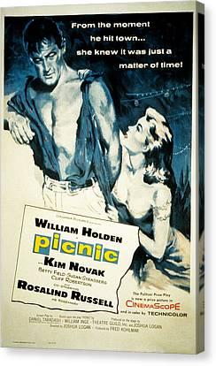 Picnic, William Holden, Kim Novak Canvas Print by Everett