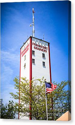 Picture Of Frankfort Grainery In Frankfort Illinois Canvas Print by Paul Velgos