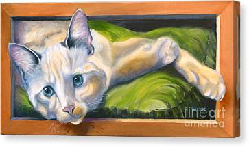Picture Purrfect Canvas Print by Susan A Becker