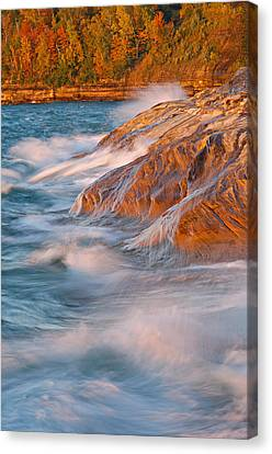 Pictured Rocks Lake Superior Canvas Print by Dean Pennala