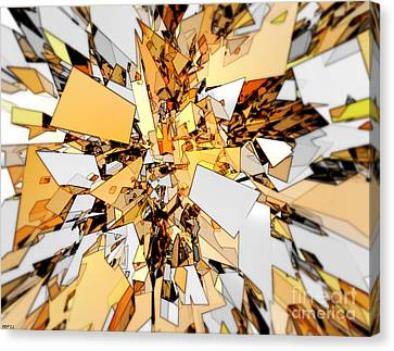 Canvas Print featuring the digital art Pieces Of Gold by Phil Perkins