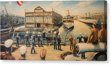 Pier 3  The Us Army Transport Service Canvas Print by Daniel W Green