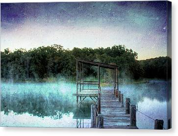 Pier In The Mist Canvas Print