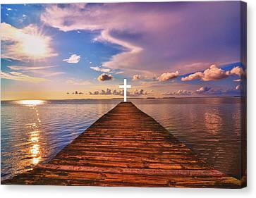 Pier Into Heaven Canvas Print by Kelly Reber