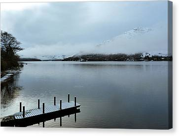 Canvas Print featuring the photograph Pier On The Loch by Lynn Bolt