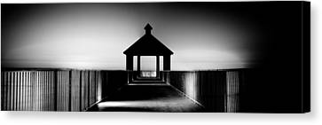 Pier Panoramic Canvas Print by Pixel Perfect by Michael Moore