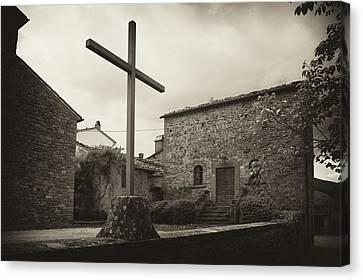 Canvas Print featuring the photograph Pieve Di Santa Maria Alla Sovarra by Hugh Smith