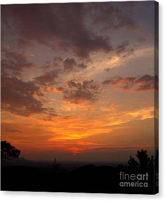 Pigeon Forge Sunset Canvas Print by Ursula Lawrence