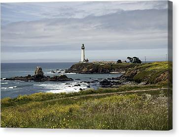 Canvas Print featuring the photograph Pigeon Point Light Station by Paul Plaine
