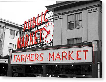 Pike Place Market Seattle Canvas Print by Michael  Kenney