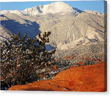 Pikes Peak Stunning Snow Canvas Print